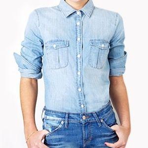 J.CREW Blue Denim Button Down Shirt